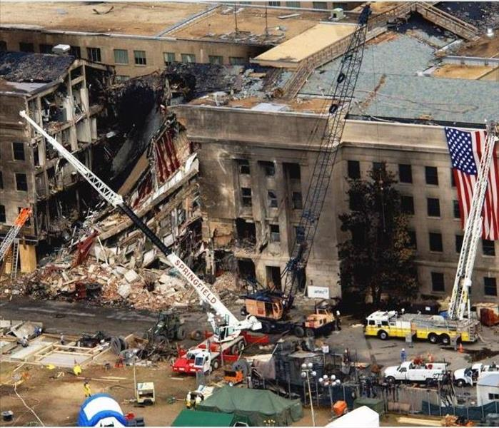 The Pentagon after the attacks on 9/11